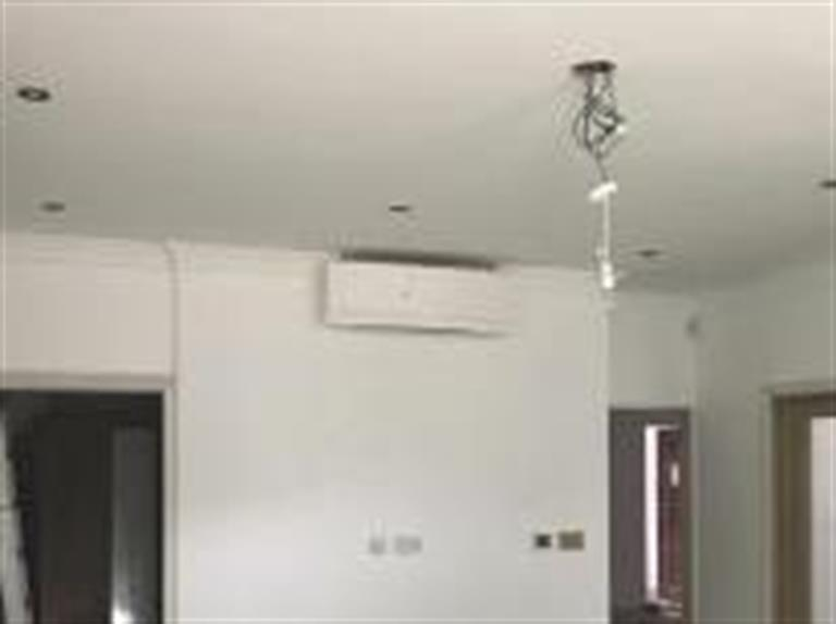 Air conditioning install in a kitchen
